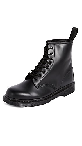 Dr. Martens, 1460 Mono 8-Eye Leather Boot for Men and Women, Black Smooth, 11 US Women/10 US Men