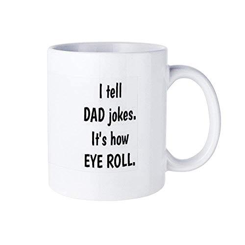 Le cuento a mi papá que bromea sobre su forma de rodar los ojos Tazas de café divertidas: tazas de té y tazas de café Regalos inspiradores y sarcasmo