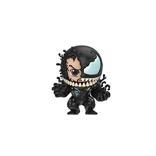 LBBD Hottoys Venom und Eddie Brock Maske 3,7 Zoll (3,7 cm), niedliche Figur, mehrfarbig, animiertes Standardmodell