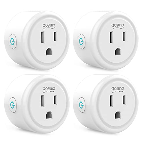 Mini Smart Plug Works with Alexa and Google Home, WiFi Outlet Socket Remote Control with Timer Function, Only Supports 2.4GHz Network, No Hub Required, ETL FCC Listed (4 Pack)