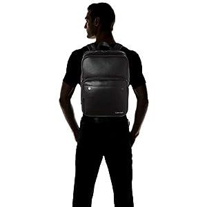 31Ya6hEWJrL. SS300  - Calvin Klein - United Pu 3g Square Backpack, Mochilas Hombre, Negro (Blackwhite Black), 1x1x1 cm (W x H L)