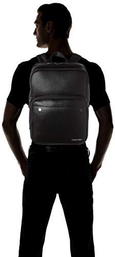 31Ya6hEWJrL - Calvin Klein - United Pu 3g Square Backpack, Mochilas Hombre, Negro (Blackwhite Black), 1x1x1 cm (W x H L)