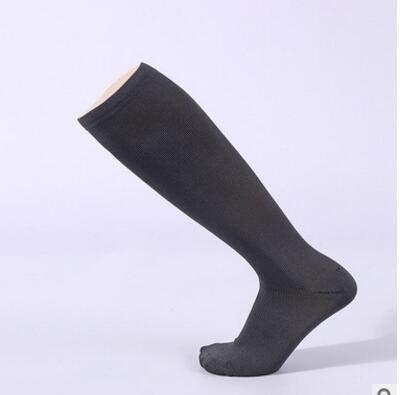 Josopa Copper Fiber Anti-vermoeidheid Druk Sport Compressie Elastische Sokken Vrouwen Man Unisex 1 Paar L/XL Donkergrijs