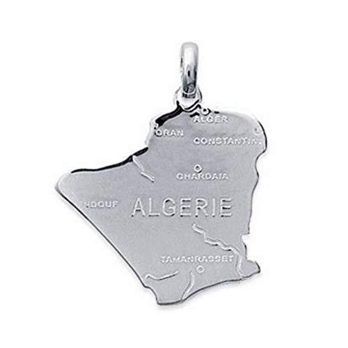 Hanger kaart Midden-Oosten sterling zilver 925