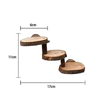 Navigatee Hamster échelle Bois pour Cage Hamster échelle Escalade Mur Rongeur échelle Jouet en Bois Rampe échelle escaliers Pont Accessoires pour Petit Animal Cage, Hamster gaudily