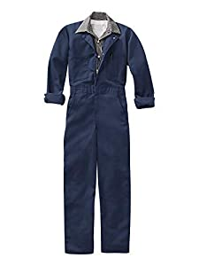 Red Kap Men's Long Sleeve Twill Action Back Coverall, Navy, 40