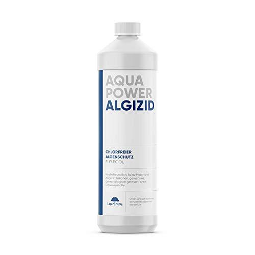 ALGIZID für Pool zur Algenverhütung chlorfreie Poolpflege | chlorfreie Wasserpflege für Pool | Algenvernichter | gegen Algen | für Pool und Whirlpool | chlorfreie Wasserpflege - Algizid ohne Chlor