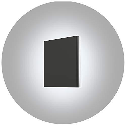 Topmo-plus 8W Lámpara de pared LED OSRAM SMD Aplique de pared Diseño de Bañadores para interior/exterior a prueba de agua IP65 aluminio Spotlight living/terraza/jardín 15CM 6000K (Gris/blanco frío)