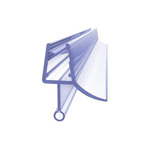 KOBEST Duschdichtung 100 cm für Duschtür und Duschkabinen Dichtung Gummilippe, Duschlippe mit Wasserabweiser für Duschwand Wasserabweiser für 4-6mm Dusche Glasstärke