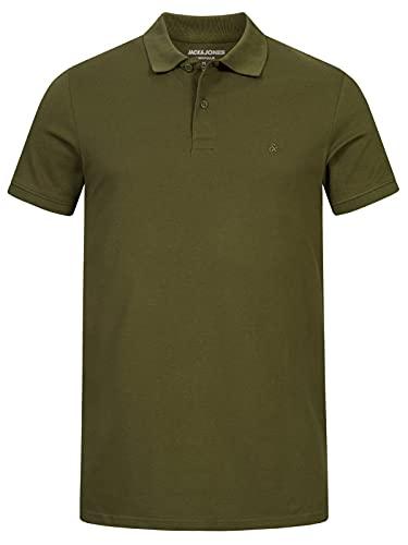 Oferta de Jack & Jones Jjebasic Polo SS Noos - Camiseta para Hombre, Verde (Olive Night), Talla L
