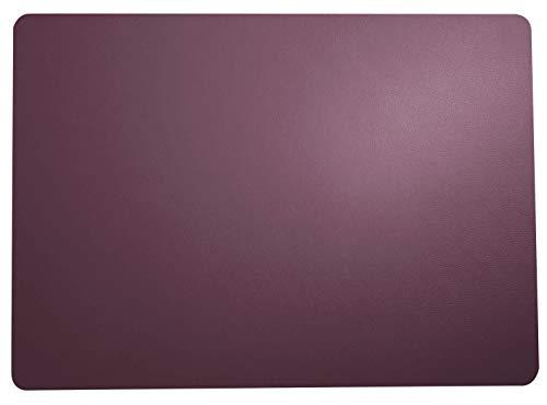 ASA Lot de 6 sets de table en cuir Violet 46 x 33 cm