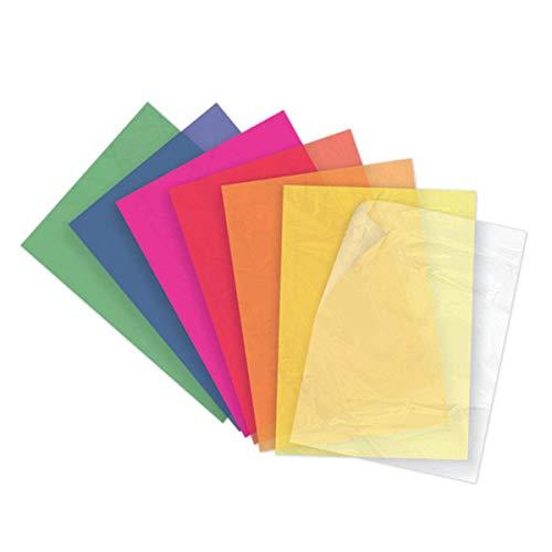 Starplast, Pack 2 Blocs de Papel Celofán, 14 Hojas 24x32cm, para Manualidades,...