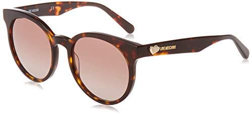 Love Moschino Damen MOL003/S Sonnenbrille, Braun (DKHAVANA), 53