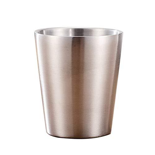 Kalaokei Taza de cerveza de doble capa de acero inoxidable de 175/260/300/480 ml, taza de café para niños, taza con doble boca 11#