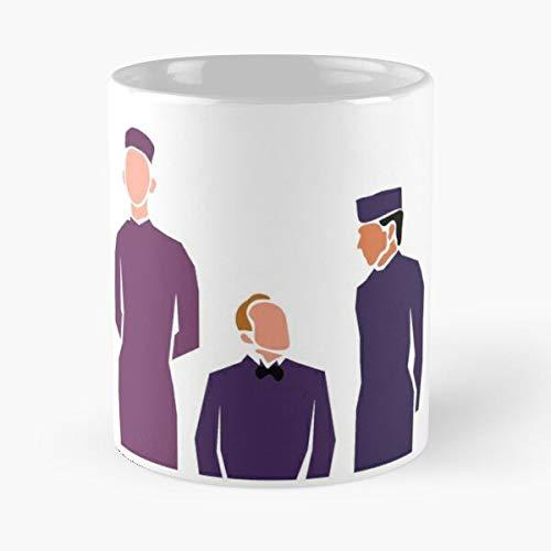 Budapest Grand Anderson Grandbudapesthotel Hotel WES La Mejor Taza de café de cerámica de mármol Blanco de 11 oz