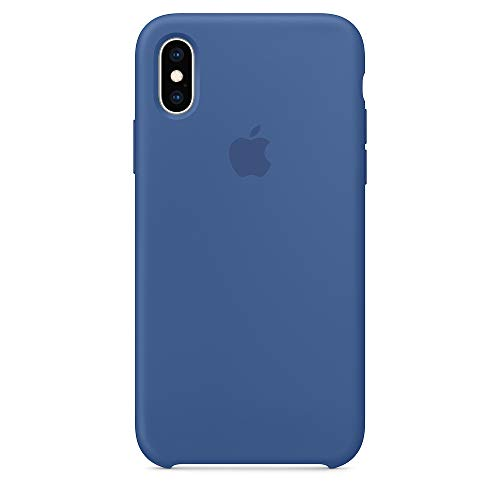 Silicone Case for iPhone X/XS,SAILONE Slim Liquid Silicone Soft Rubber Protective Phone Case Cover (with Soft Microfiber Lining) Compatible with iPhone X/XS(5.8Inch) (Delft Blue)