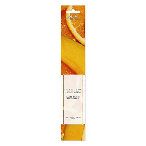 Pajoma Lot de 12 packs de 10 bâtonnets d'encens Orange mangue