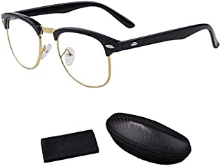 ANTI-RADIATION READING AND ANTI-FATIGUE COMPUTERS GLASSES, WITH BOX AND CLEANER PANTO SHAPE CLEAR