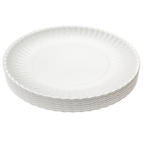 Picnique Reusable Paper Plates 11-inch Melamine Plates for Dinner, Outdoor Kitchen, RV, Camping or as Everyday Party Plates - Dishwasher Safe - Set of 6
