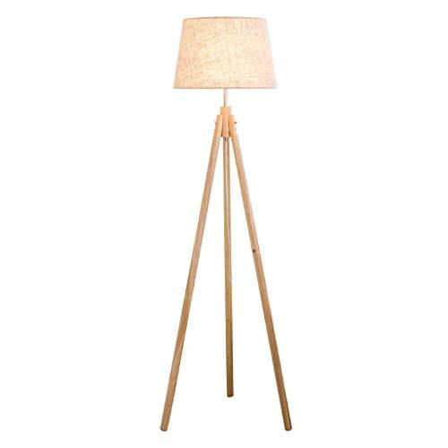 Lámpara de pie, nórdico Minimalista Sala Log Baja Dormitorio de la lámpara lámpara de cabecera Estudio Vertical lámpara de Mesa LIUH