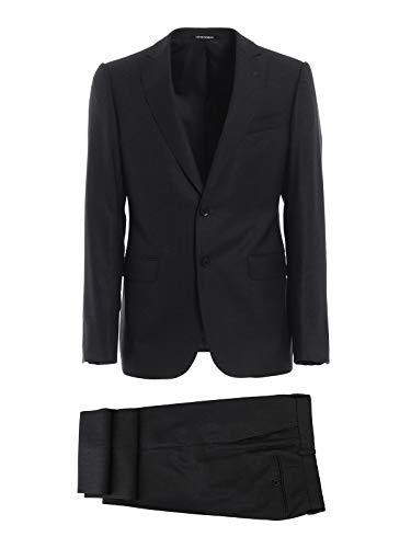 Emporio Armani Luxury Fashion Herren 11VMGB11610631 Schwarz Wolle Anzuge | Frühling Sommer 20