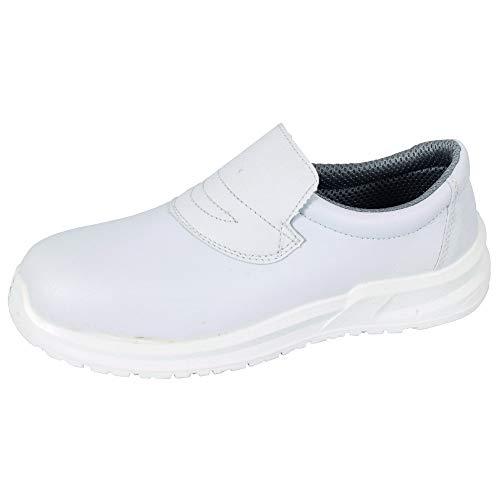 Blackrock SRC04 Calzado de Protección Unisexo, Color Blanco, Talla 41 EU Regular (7 UK)