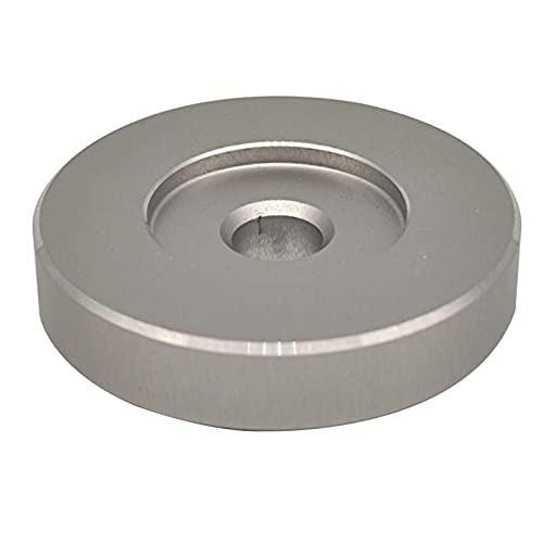 Faderr Adaptador de 45 RPM, inserto de adaptador de cúpula de disco de vinilo de 7 pulgadas, adaptador de cúpula de gamófono para todos los tocadiscos (plata)