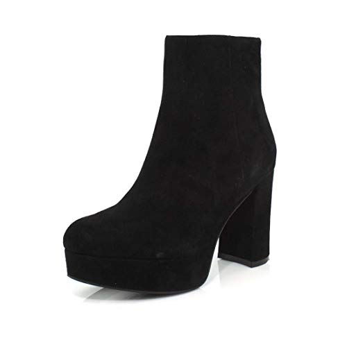 Jeffrey Campbell Womens Sahar Black Suede Boot - 6