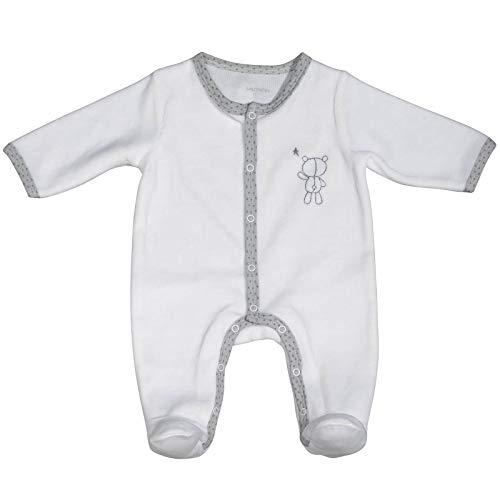 Pyjama bébé blanc ours 1 mois Céleste - Sauthon