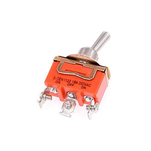 Kfdzsw Interruptor basculante 2 unids E-TEN1021 1121 1122 1221 1322 1321 1322 Interruptor de Palanca Interruptor de Palanca de Rocker 15A 250VAC (Color : 1122)