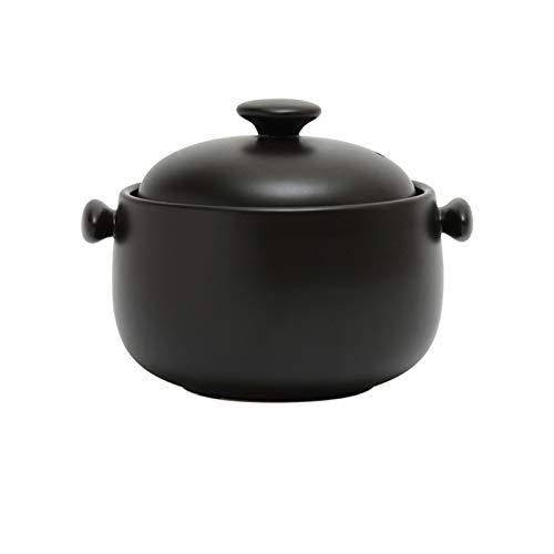DJDLLZY Cazuela de cerámica Cerámica Premium Cerámica Casserole Hot Casserole Utensilios de Cocina BIBIMBAP Sopa de tazón de tazón de Taza con Tapa