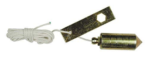Medid MD/2001000 Plomada construida en hierro calibrado zincado con pletina, 1000 gr