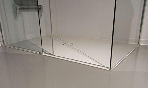 bodengleiche Dusche bis 2,2 m² - mit Kerlite einbaufertig belegt - fast ohne Fugen - komplett