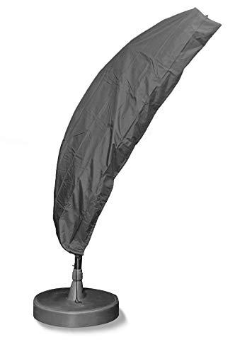 Bosmere Np062 Parasol déporté Coque – Gris 236x68x236 cm Gris