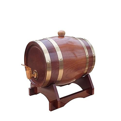 Juego de decantador de whisky de 5 litros con dispensador de barril de whisky de roble y barriles de envejecimiento para el hogar, para licores de vino, cerveza y licor-F