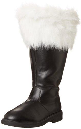 Funtasma Men's Santa, Black/What Faux Fur, Medium/10-11 M US