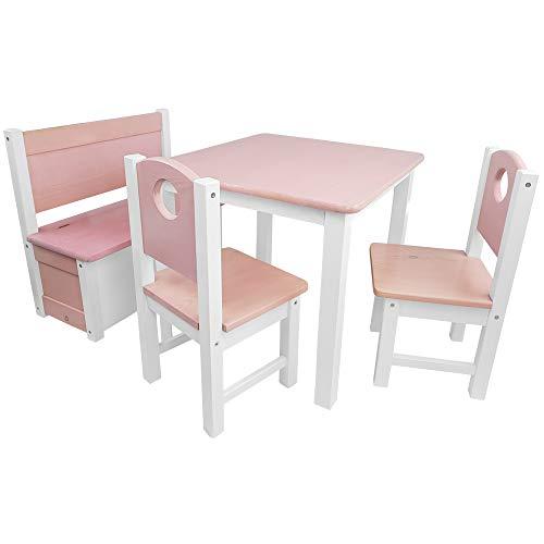 SunDeluxe Conjunto Infantil de Mesa y Asientos: 1 Mesa + 2 sillas ...