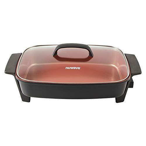 NUWAVE Medley 16x12 inch X-Large Capacity 6-in-1 1500-watt Digital Skillet with Duralon Healthy Ceramic Non-Stick Coating