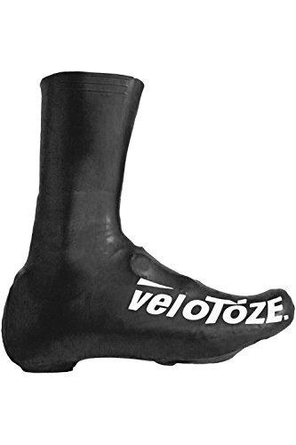 veloToze Cycling Overshoe Waterproof Shoe Covers Tall Black Medium by VeloToze