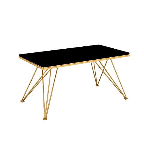 Mesa de Comedor, Mesa de Comedor Rectangular de Madera Maciza Mesa de Comedor Moderna y Simple para 4-6 Personas, Mesa de Comedor y combinación de sillas,Negro,140cm