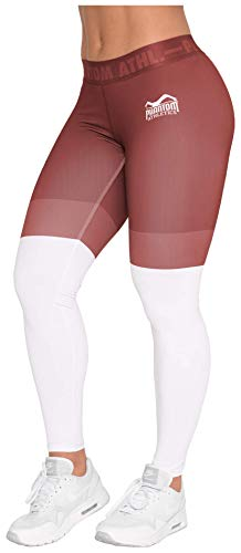 Phantom Athletics Damen Leggings Eclipse Sport-Hose für Frauen Yoga Jogging Fitness Laufen Sport-Leggins Rot Gr. XS