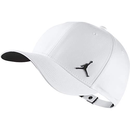 NIKE Jordan Clc99 Metal Jumpman Gorra de Tenis, Unisex Adulto, Blanco (Blanco),...