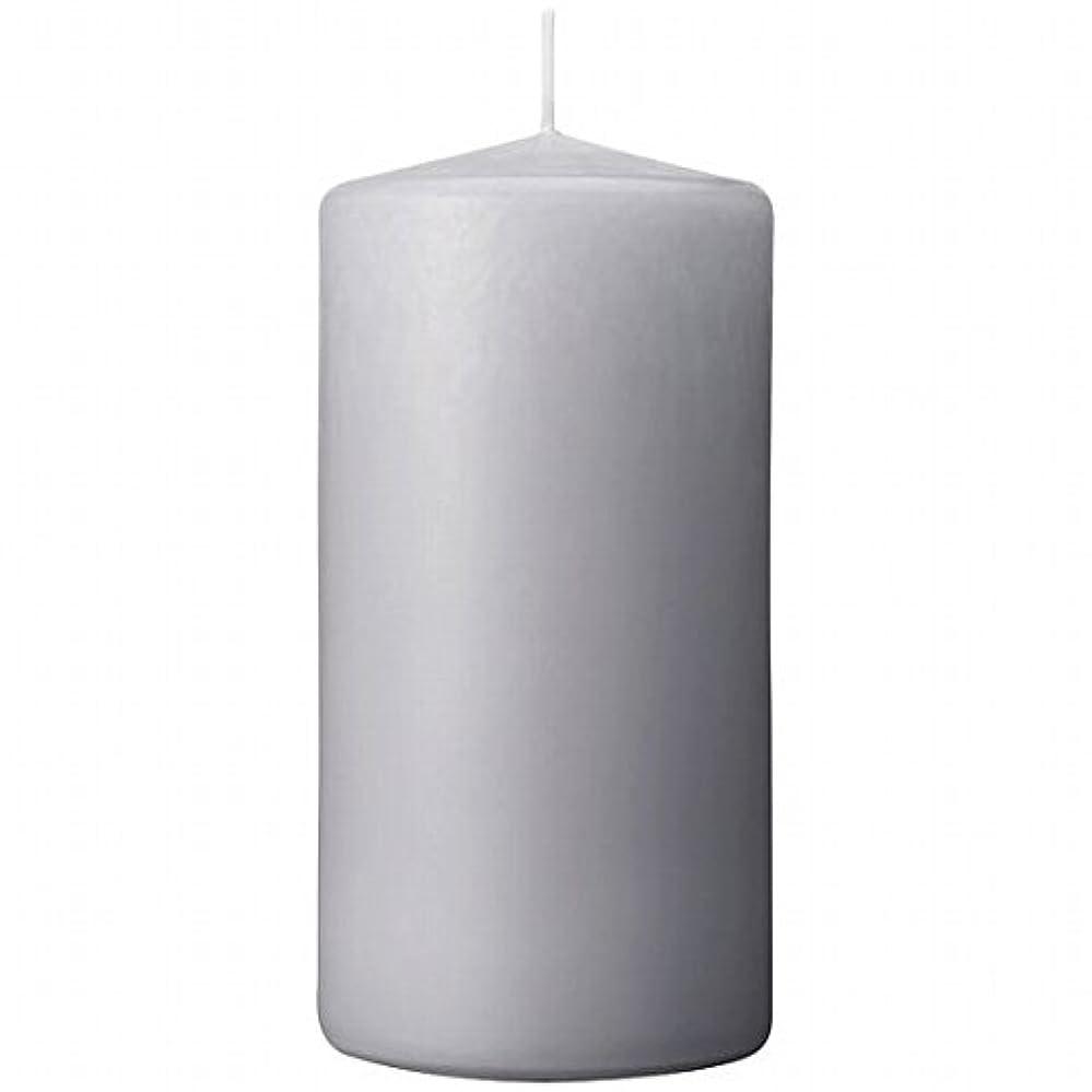 フルーツイライラする特権的カメヤマキャンドル(kameyama candle) 3×6ベルトップピラーキャンドル 「 ライトグレー 」