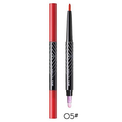 Ofanyia Double-Head Lip Liner Langlebige wasserdichte Lippen Make-up Lip Liner mit Lippenpinsel