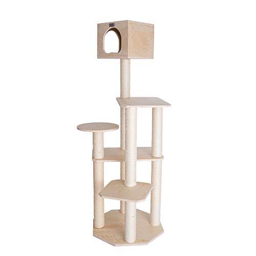 "Armarkat S6905 Premium Solid Wood Cat Tree Tower, 69"""