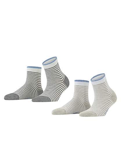 ESPRIT Damen Wide Stripes 2-Pack W SSO Hausschuh-Socken, Mehrfarbig (Sortiment 10), 35-38 (UK 2.5-5 Ι US 5-7.5) (2er Pack)