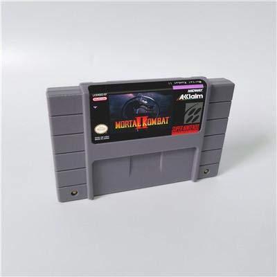 Game card - Game Cartridge 16 Bit SNES , Game Mortal Kombat Series Games Mortal Kombat II 2 - Action Game Card US Version English Language