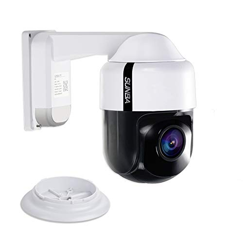 SUNBA 4X Optical Zoom 960H Analog Mini PTZ Security Camera, Auto Focus, Indoor/Outdoor and Night Vision up to 150ft (305-A4X)