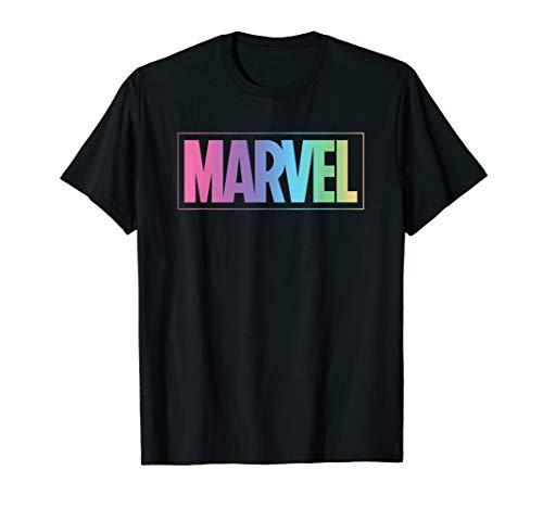 Marvel Logo Pastel Rainbow T-Shirt