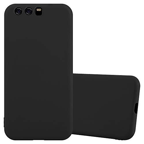 Cadorabo Funda para Huawei P10 en Candy Negro - Cubierta Proteccíon de Silicona TPU Delgada e Flexible con Antichoque - Gel Case Cover Carcasa Ligera